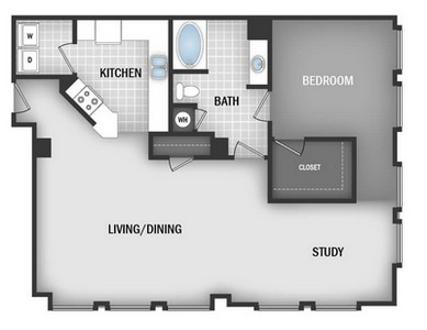 Layout of AD5 floor plan.