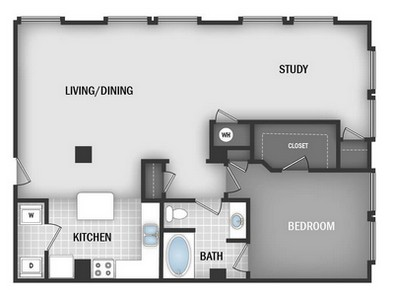 Layout of AD6 floor plan.
