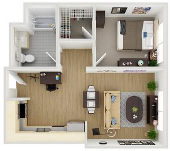 Layout of Unit 2 floor plan.