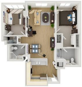 Layout of Unit 5 floor plan.