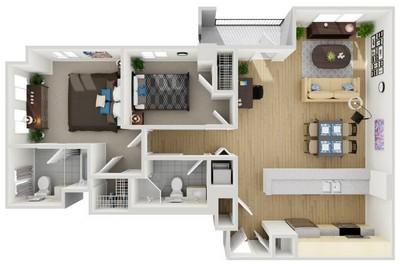 Layout of Unit 8 floor plan.