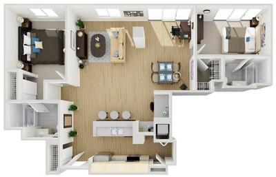 Layout of Unit 9 floor plan.