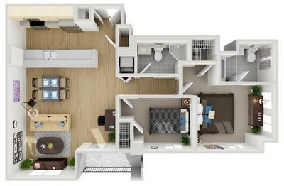 Layout of Unit 3 floor plan.