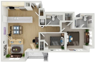 Layout of Unit 6 floor plan.