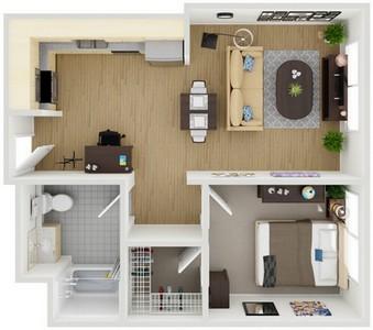 Layout of Unit 7 floor plan.