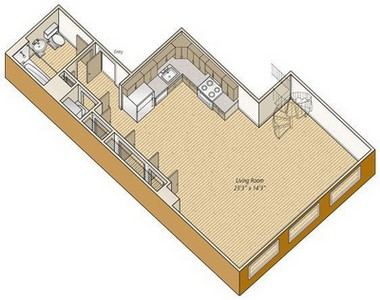 Layout of S23 floor plan.