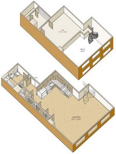 Layout of S23L floor plan.