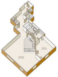 Layout of A13 floor plan.