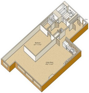 Layout of A25 floor plan.