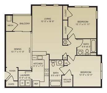 Layout of The Graystone floor plan.