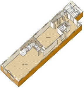 Layout of A38 floor plan.