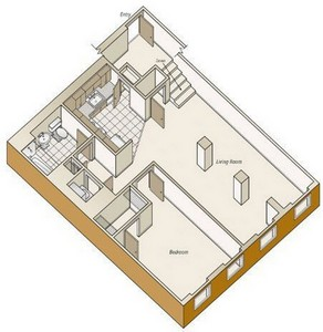 Layout of A39 floor plan.