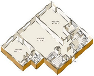 Layout of B11 floor plan.