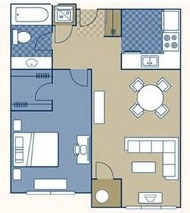 Layout of Hartford floor plan.