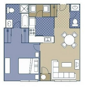 Layout of Birmingham floor plan.