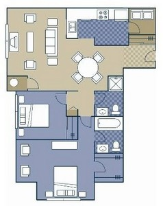 Layout of Lowery floor plan.