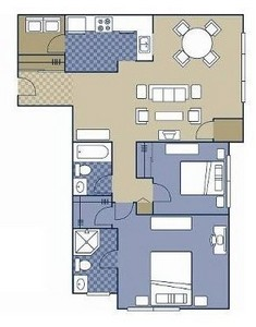 Layout of Fairfield floor plan.