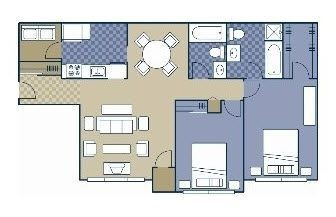 Layout of Iron Hill floor plan.