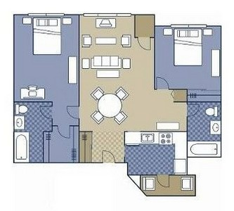 Layout of Glen floor plan.