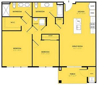 Layout of Eclipse floor plan.