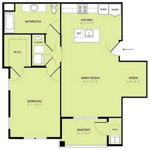 Layout of Crescent floor plan.