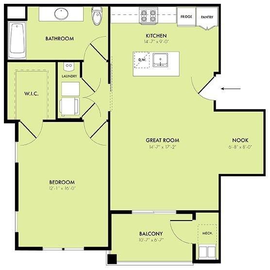 Crescent 1 Bedroom With Den Apartments For Rent In Berlin Nj