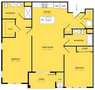 Layout of Equinox floor plan.