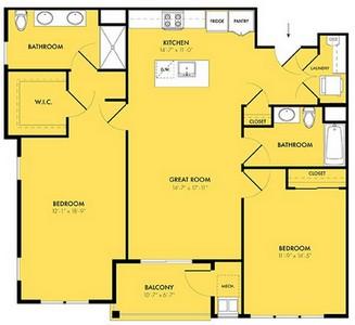 Layout of Equinox A floor plan.