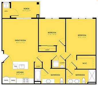 Layout of Luna floor plan.