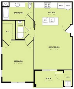 Layout of Moonrise floor plan.