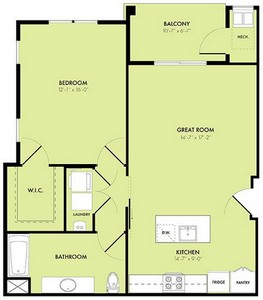 Layout of Moonrise A floor plan.