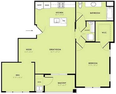 Layout of Solstice floor plan.