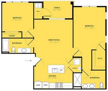 Layout of Twilight floor plan.