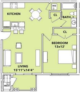 Layout of Sunray floor plan.