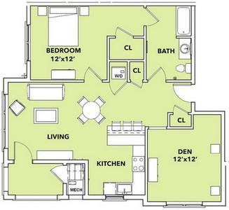 Layout of Sunburst floor plan.