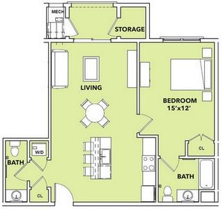Layout of Sunstar floor plan.