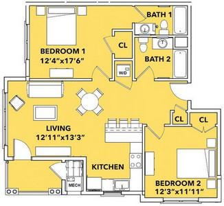 Layout of Luminosity floor plan.