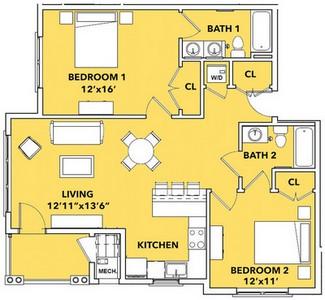 Layout of Luminary floor plan.
