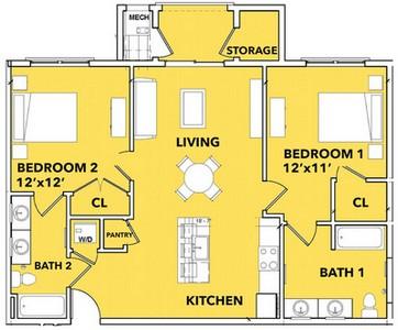 Layout of Daybreak floor plan.