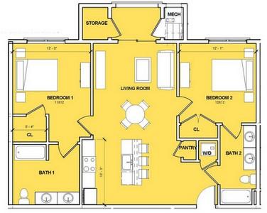 Layout of Daymoon floor plan.