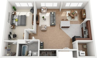 Layout of Baltimore floor plan.