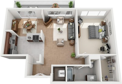 Layout of Calvert floor plan.
