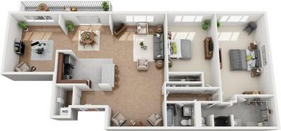 Layout of Hartford floor plan.