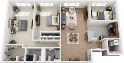 Layout of Kent floor plan.