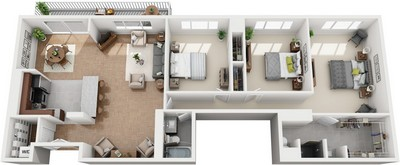 Layout of Washington floor plan.