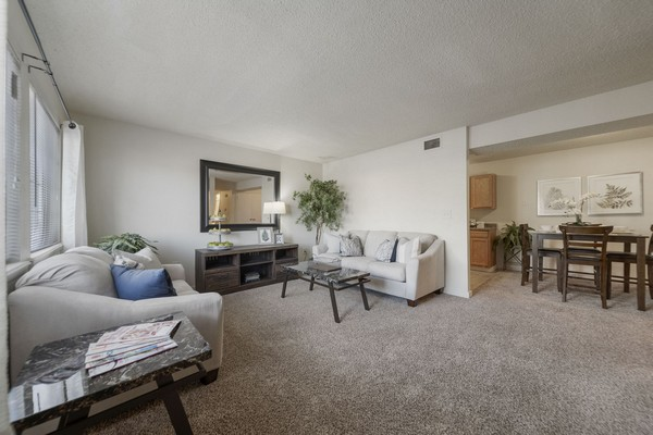 Apartment living room/dining. Click to view the photo gallery.