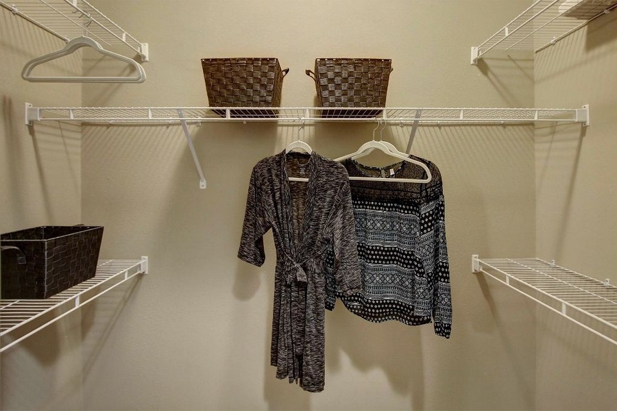 walk-in closet with shelving