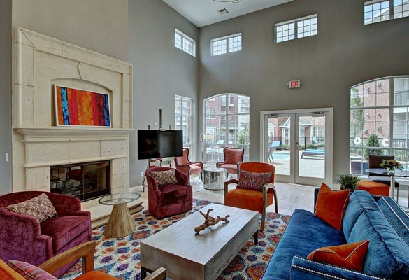 Resident lounge with seating. Click to view the photo gallery.
