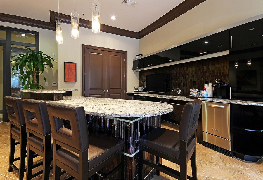 Kitchen in resident lounge