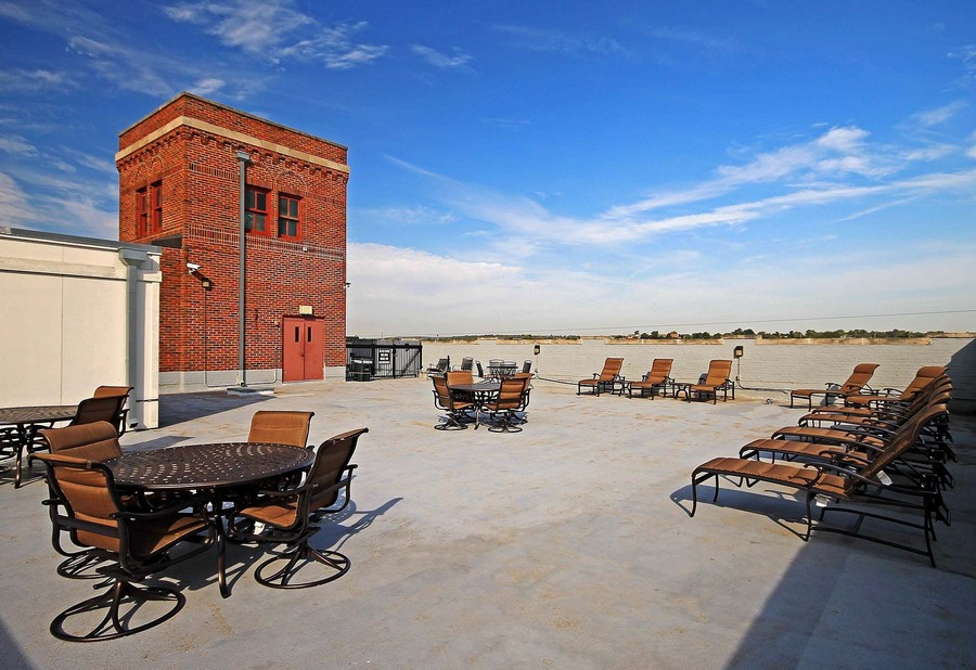 Rooftop with seating area